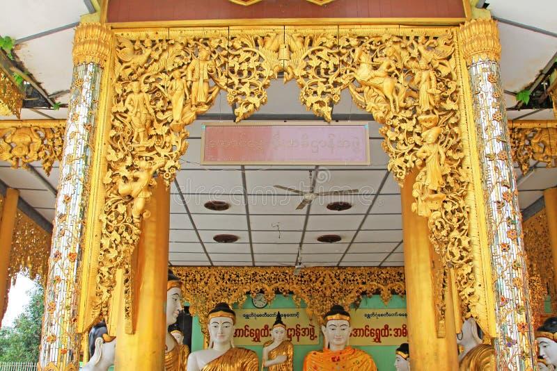 Image du ` s Bouddha de pagoda de Shwedagon, Yangon, Myanmar photos libres de droits