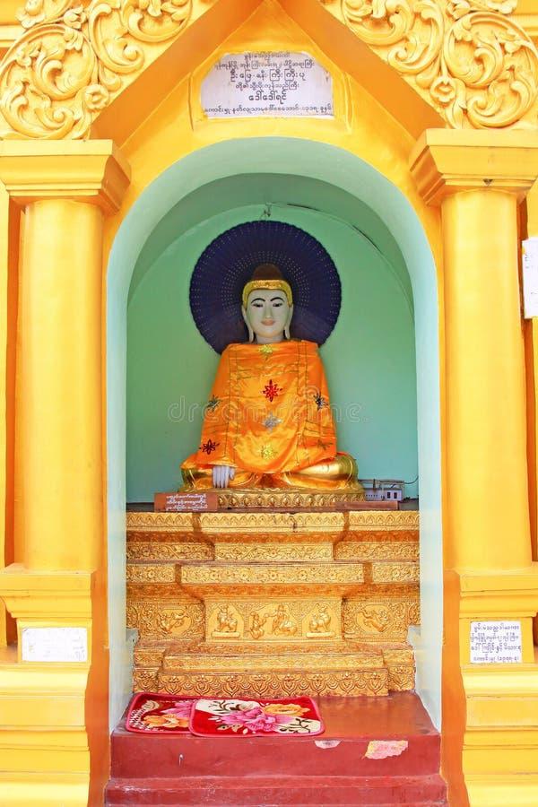 Image du ` s Bouddha de pagoda de Shwedagon, Yangon, Myanmar photo libre de droits