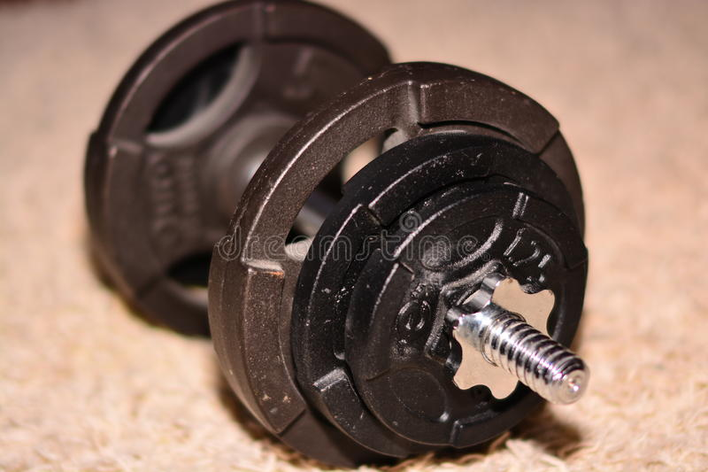 Image of a dumbbell royalty free stock image