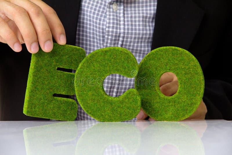 Eco alphabet. Image of eco alphabet, green concept stock photos
