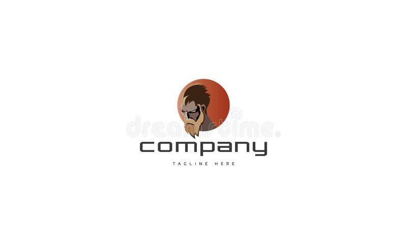 Image enragée de logo de vecteur illustration libre de droits