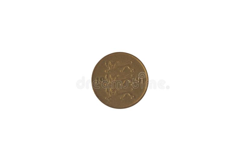 The image of Estonian coin 10 cents. Obverse. Leos. Image of Estonian coin 10 cents. Obverse. Leos royalty free stock image