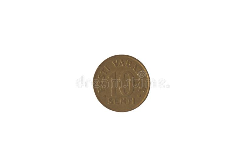 The image of Estonian coin 10 cents. Reverse. Image of Estonian coin 10 cents. Reverse stock images