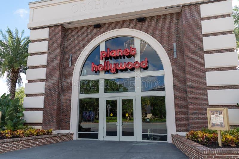 Image ext?rieure de l'avant resturant de magasin de Planet Hollywood photographie stock libre de droits