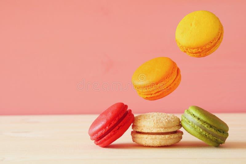 Download Image Of Falling Colorful Macaron Stock Photo - Image: 83707315