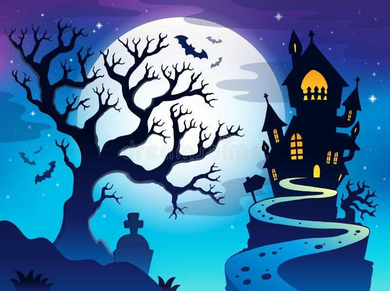 Image fantasmagorique 7 de thème d'arbre illustration de vecteur