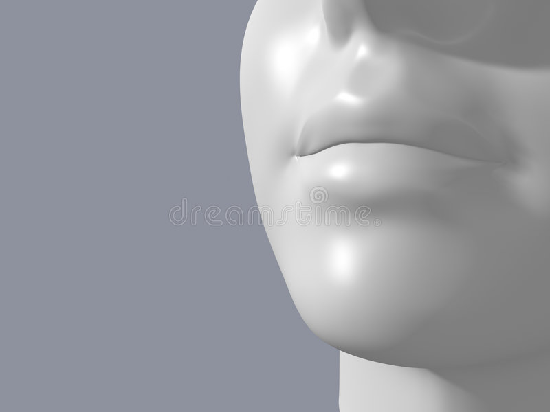 image of female mannequin head royalty free illustration