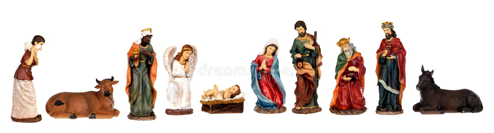 Image figures for the Nativity Portal stock photo