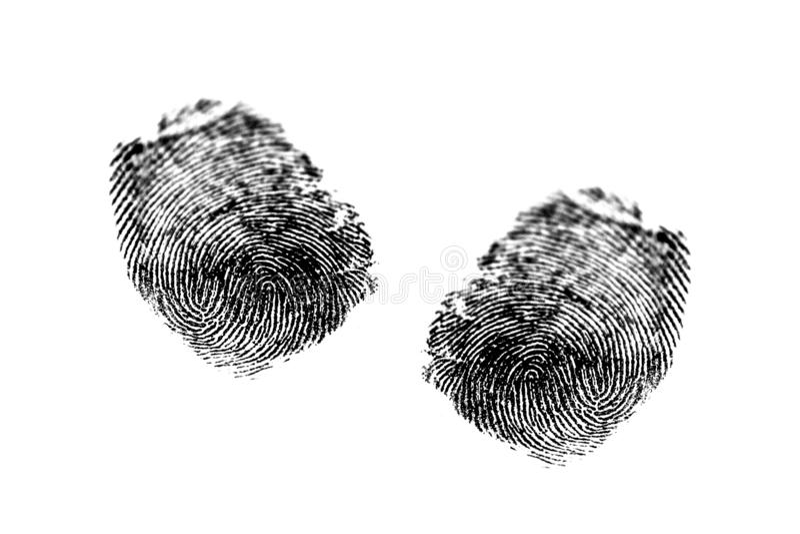 Fingerprints on a paper. The image of fingerprints on a paper stock images