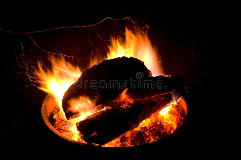 Image Of A Fire Pit At Night Stock Photos