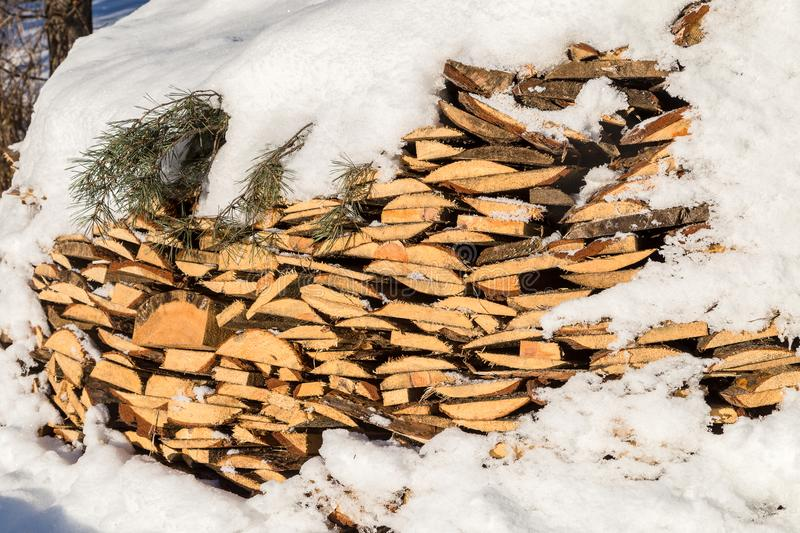 Image with firewood. royalty free stock photo