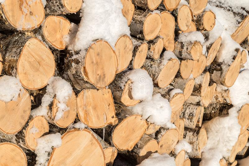 Image with firewood. stock image