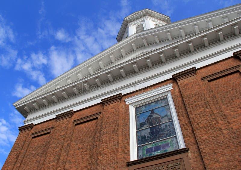 Image of First Baptist Church, Washington Street, Saratoga, New York, 2017 royalty free stock images