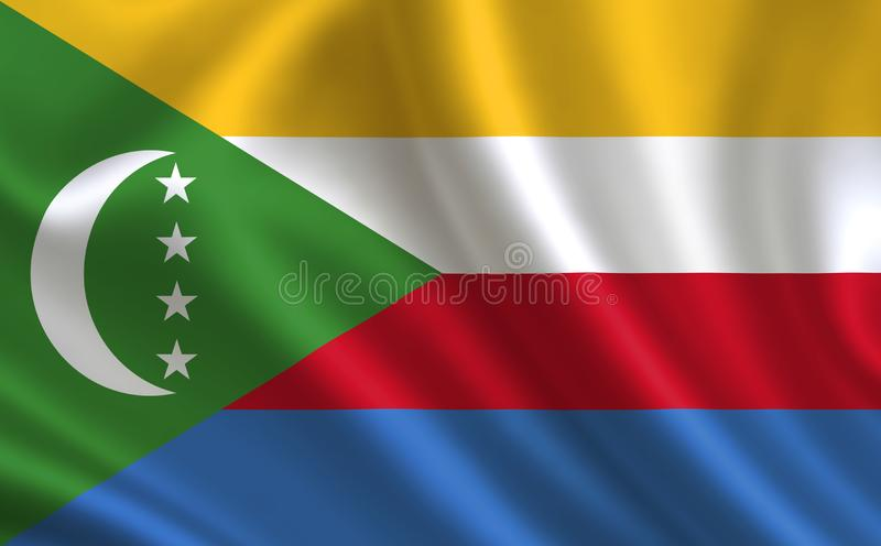 Image of the flag of Comoros. Series `Africa` royalty free illustration