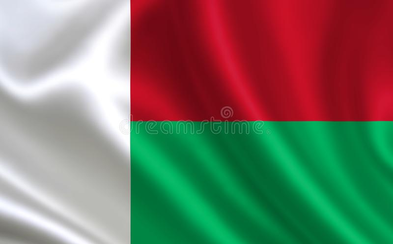 Image of the flag of Madagascar. Series `Africa` royalty free illustration