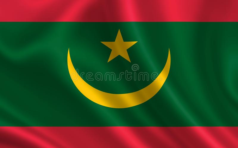 Image of the flag of Mauritania. Series `Africa` royalty free illustration