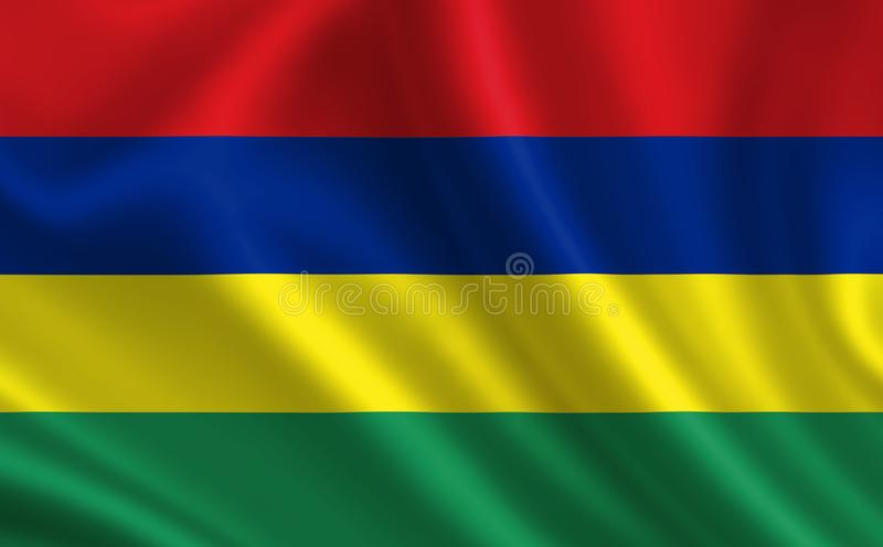 Image of the flag of Mauritius. Series `Africa` stock illustration