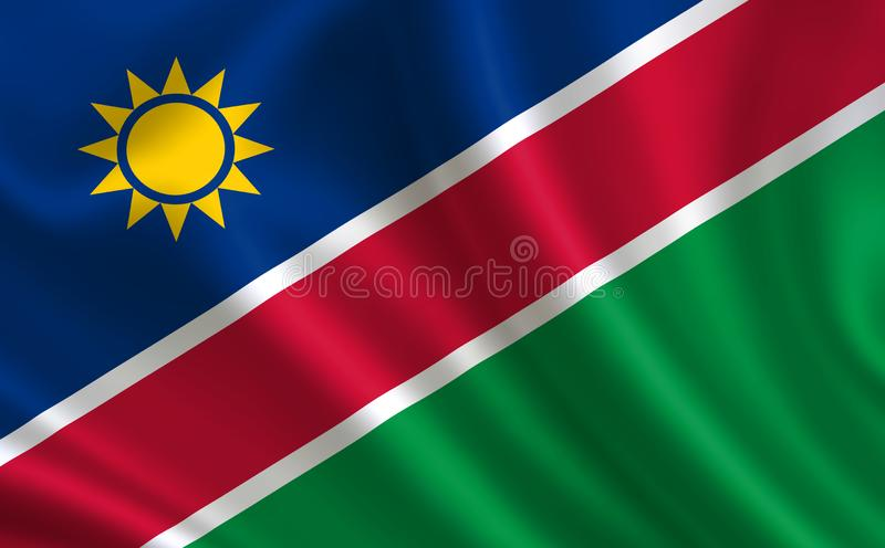 Image of the flag of Namibia. Series `Africa` stock illustration