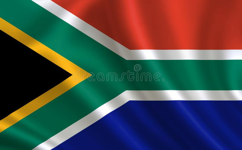 Image of the flag of the Republic of South Africa. Series `Africa`. Image of the flag of the  Republic of South Africa. Series `Africa stock illustration