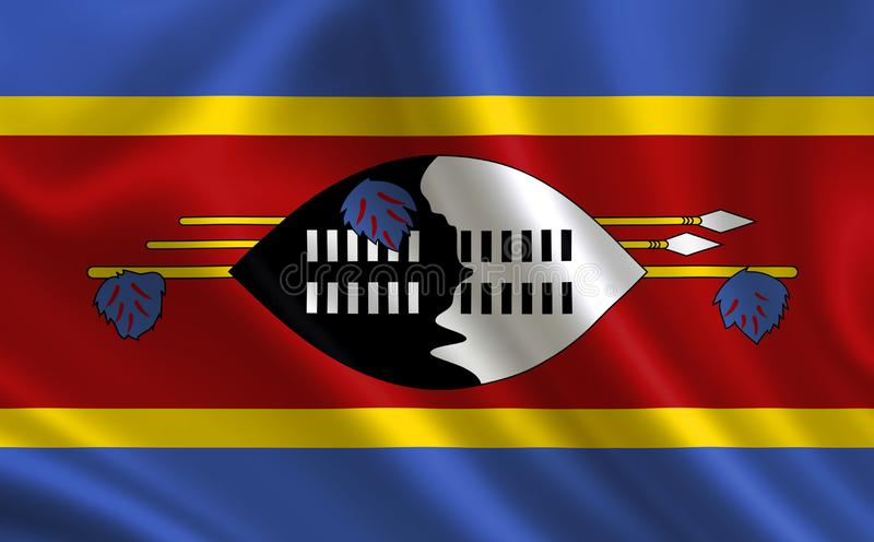 Image of the flag Swaziland. Series `Africa` stock illustration