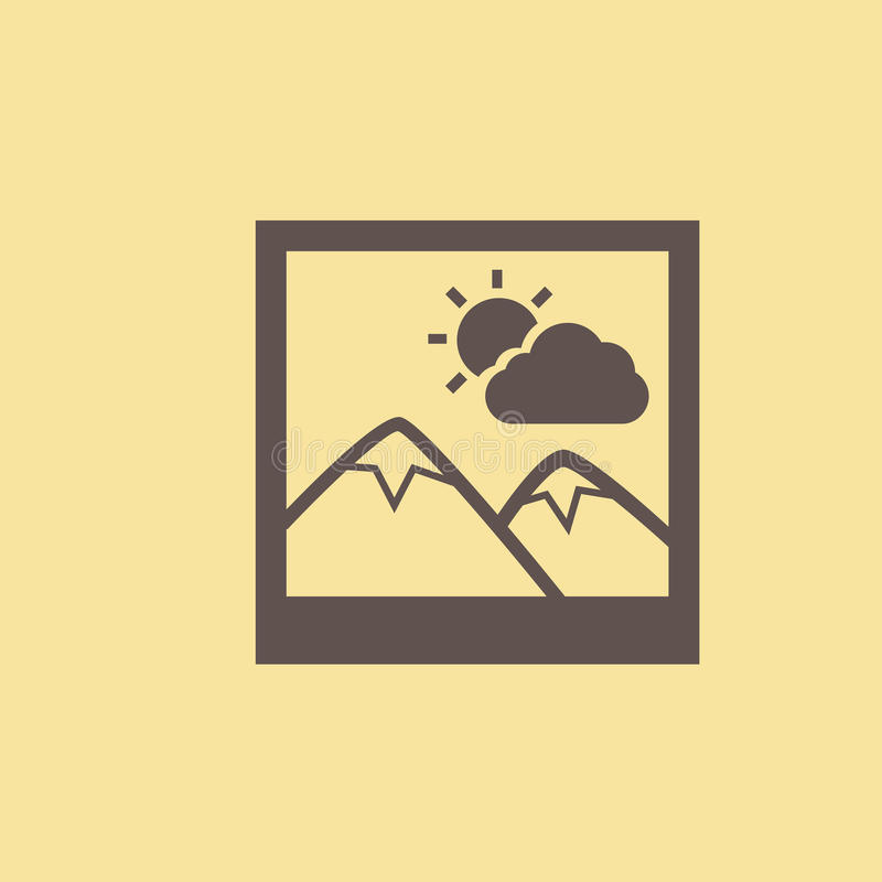 Image Flat Icon. Vector Pictogram. EPS 10 vector illustration