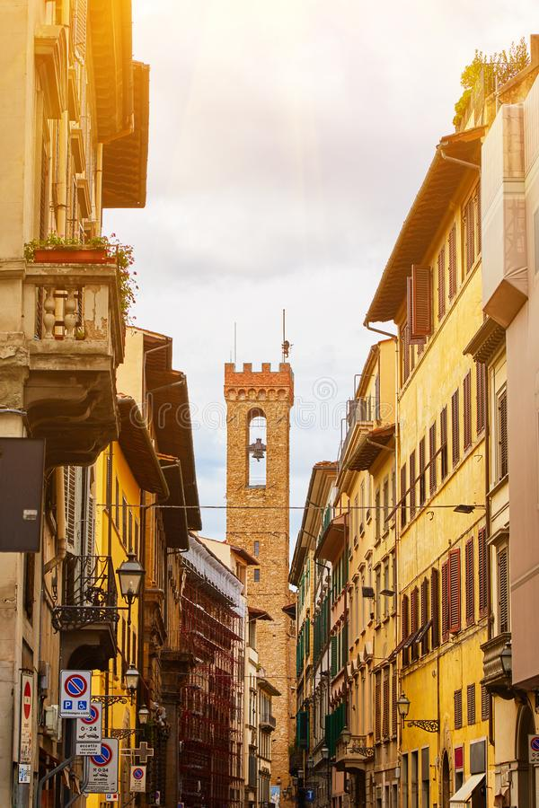 View of Florence street stock photography