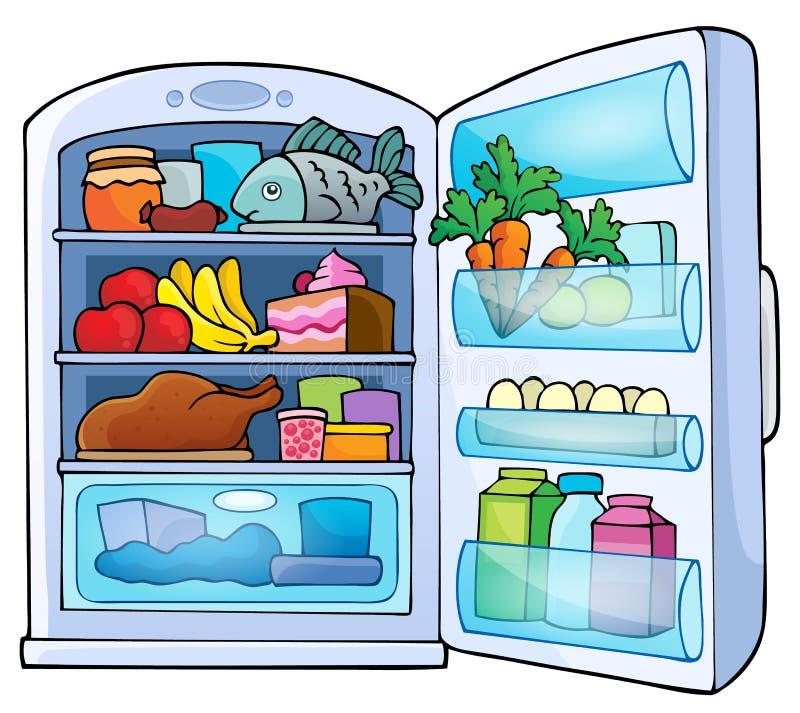 Image with fridge theme 1. Eps10 vector illustration stock illustration