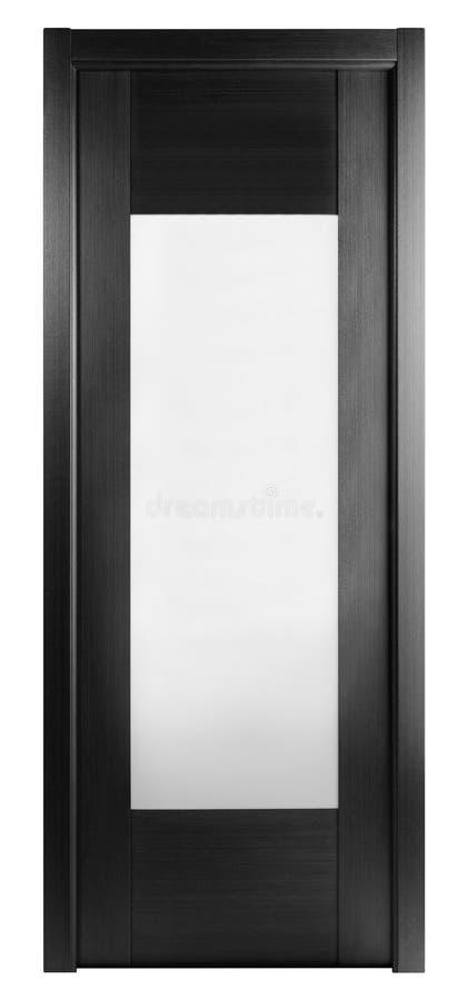 Image frontale d'une porte fermée, d'isolement sur le blanc images libres de droits
