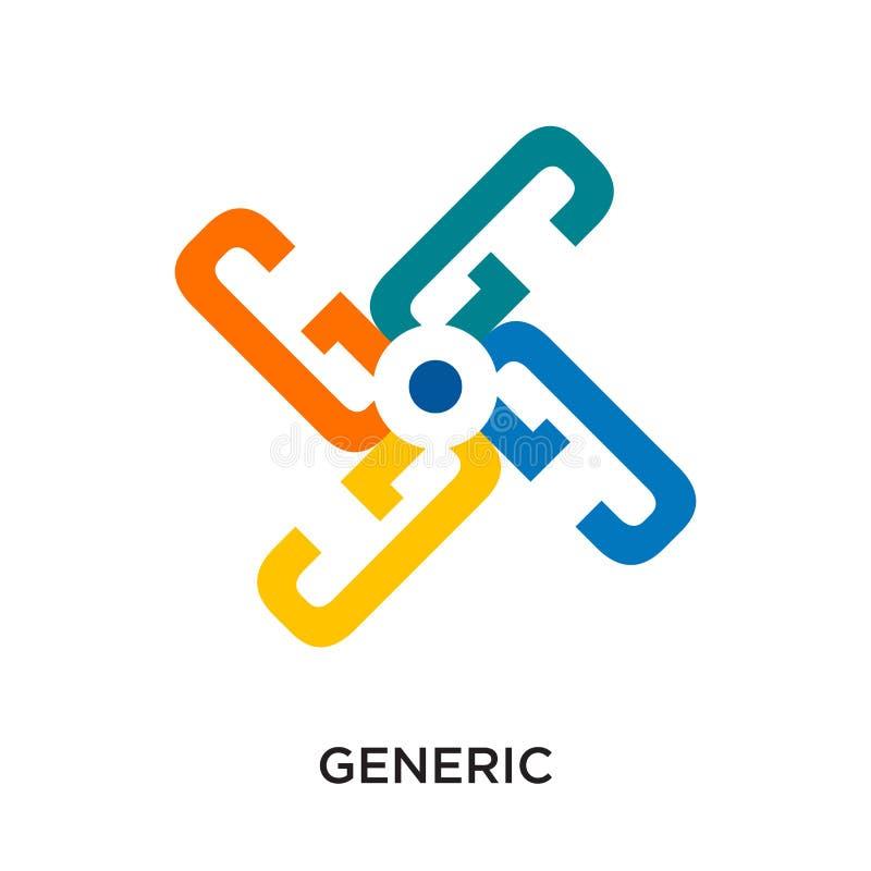 image générique de logo d'isolement sur le fond blanc pour votre Web, MOIS illustration stock