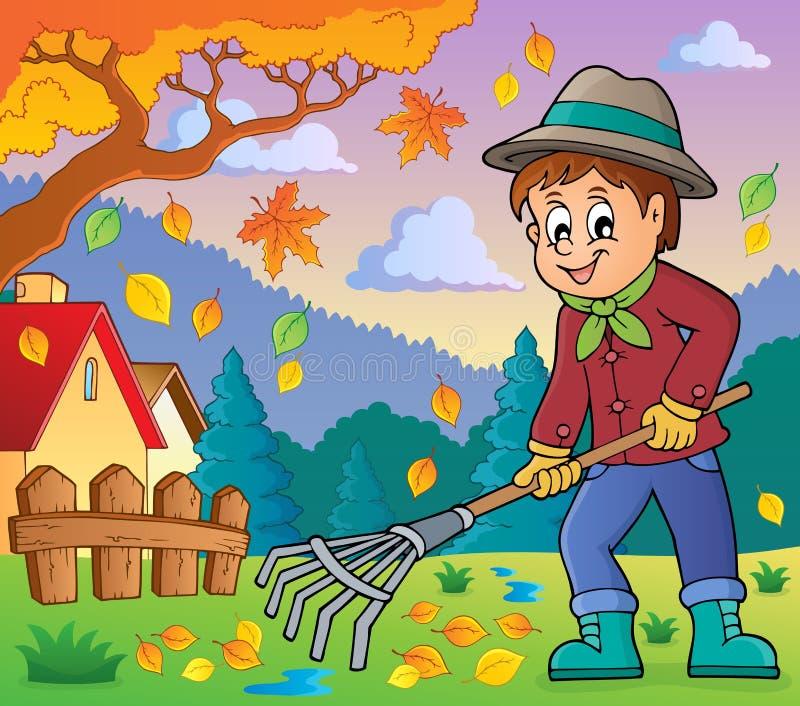 Image with gardener theme 4 vector illustration