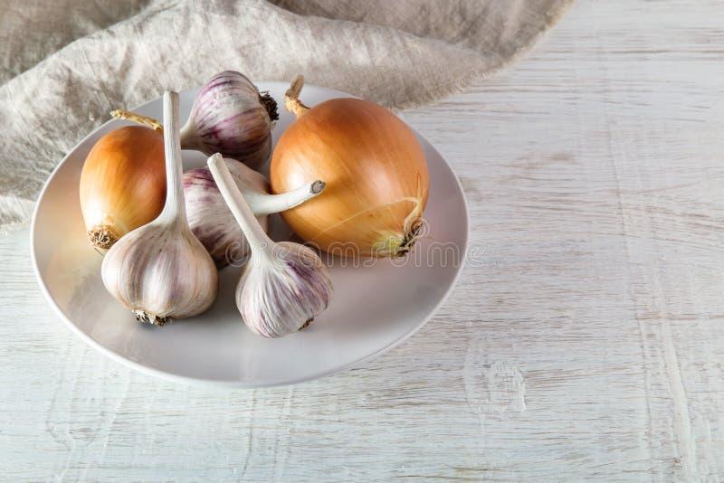 Image with garlic. stock photos