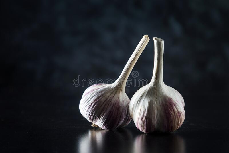 Image with garlic. stock photo
