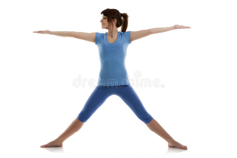 Image Of A Girl Practicing Yoga Royalty Free Stock Image