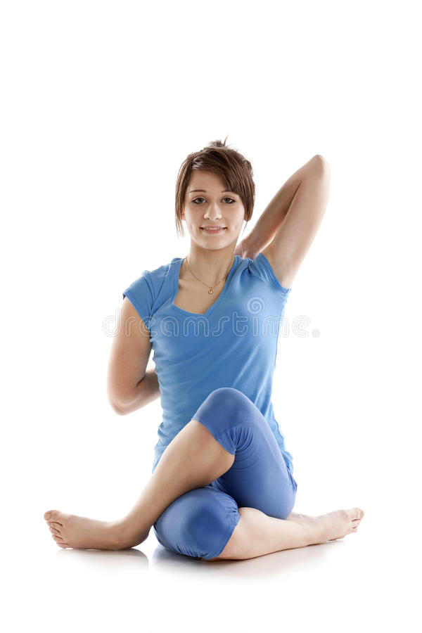 Download Image Of A Girl Practicing Yoga Stock Photo - Image: 24508642