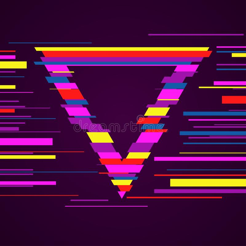 Image with glitch effect. Creative vector image with glitch effect. Futuristic banner design royalty free illustration