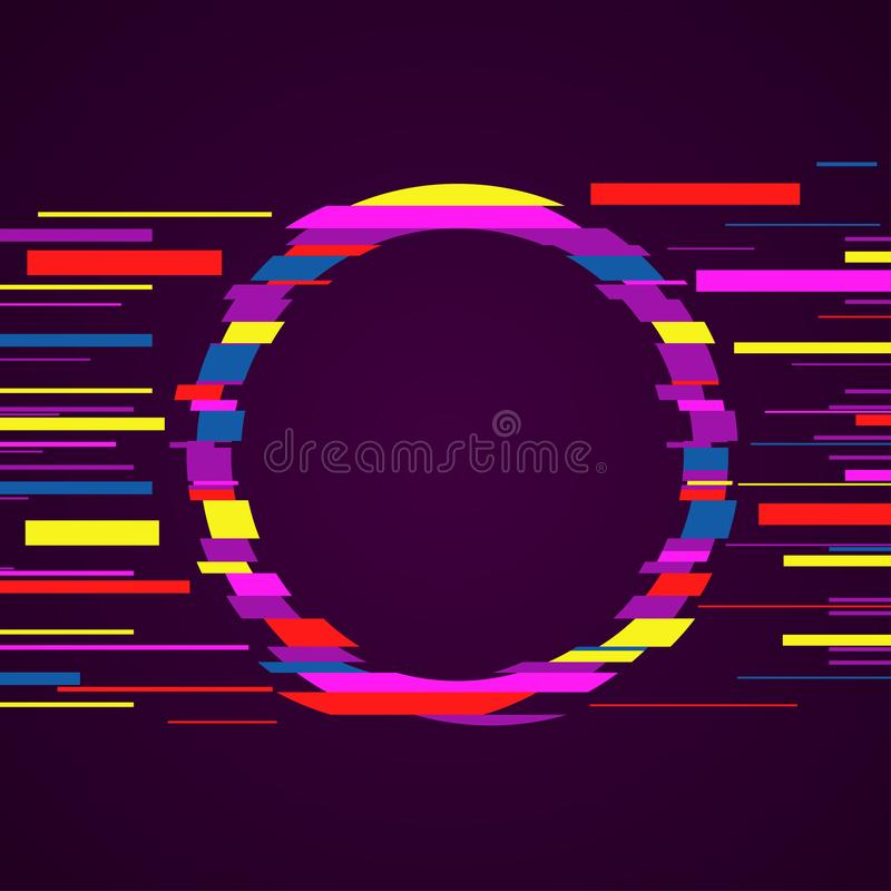 Image with glitch effect. Glitch art. Distorted image for your cover design. Vector illustration vector illustration