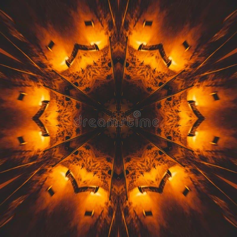 Image graphique avec l'abrégé sur conception de style de kaléidoscope illustration de vecteur