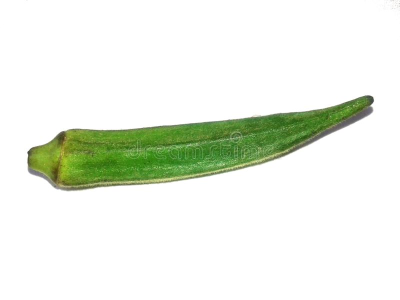 This is the image green lady finger with white background royalty free stock image