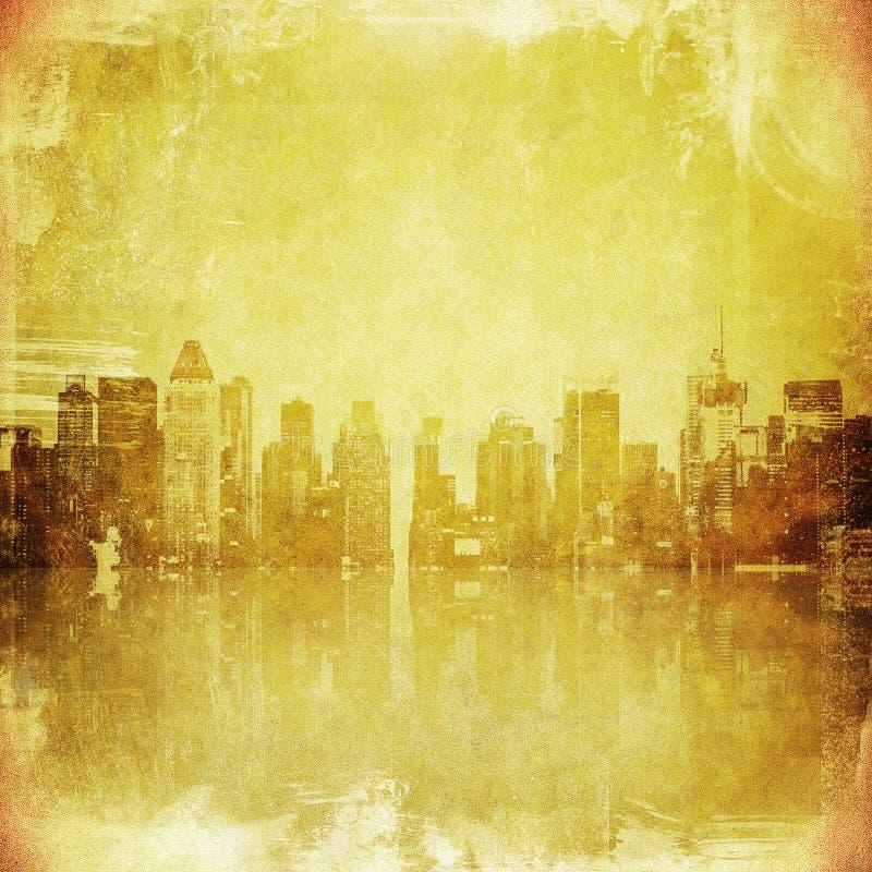 Image grunge d'horizon de New York illustration de vecteur