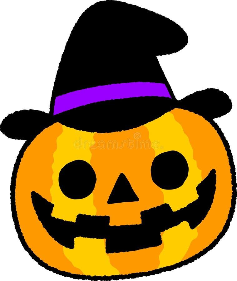 The image of a Halloween Pumpkin stock illustration
