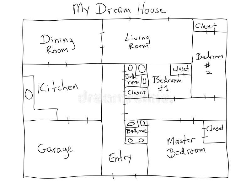 Bon Download My Dream House Stock Illustration. Illustration Of Planning    29946059