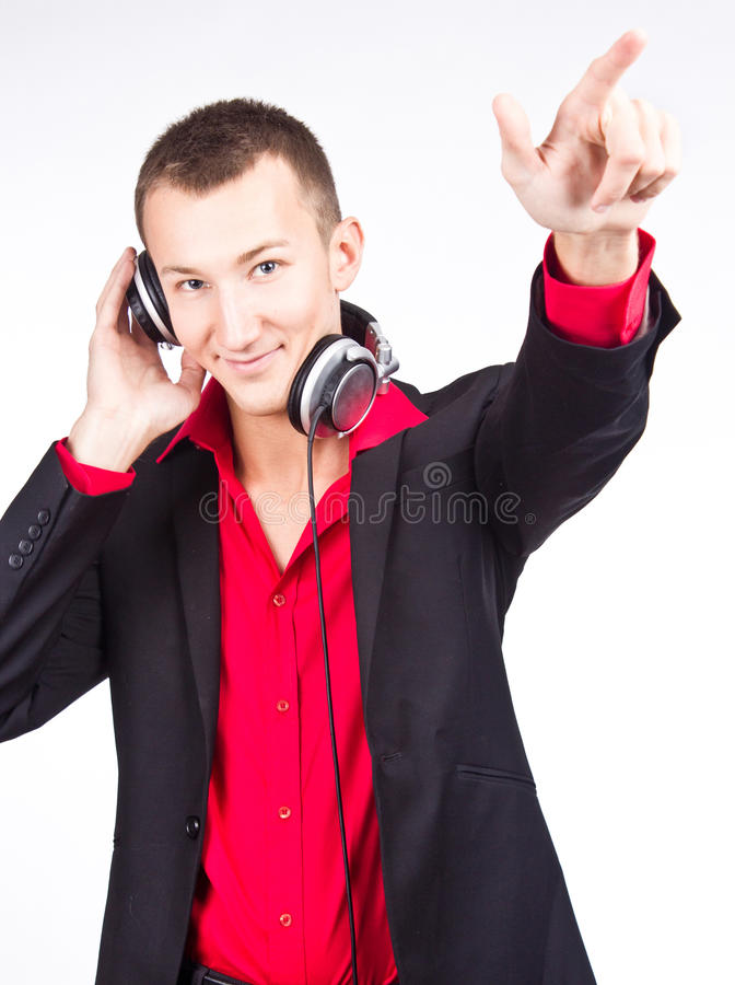 Image Of Handsome Male DJ Royalty Free Stock Photos