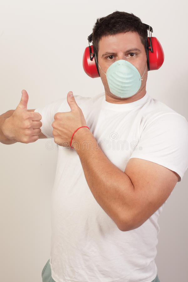 Download Image Of A Handy Man Showing Two Thumbs-up Stock Photo - Image: 21646520