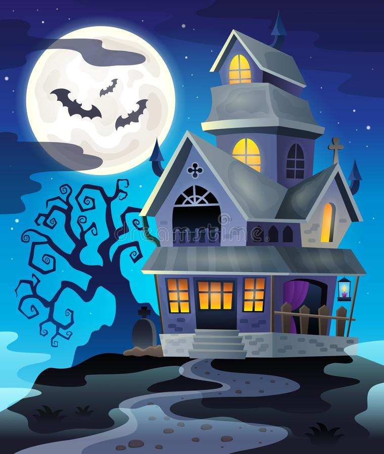 Image with haunted house thematics 3. Eps10 vector illustration stock illustration