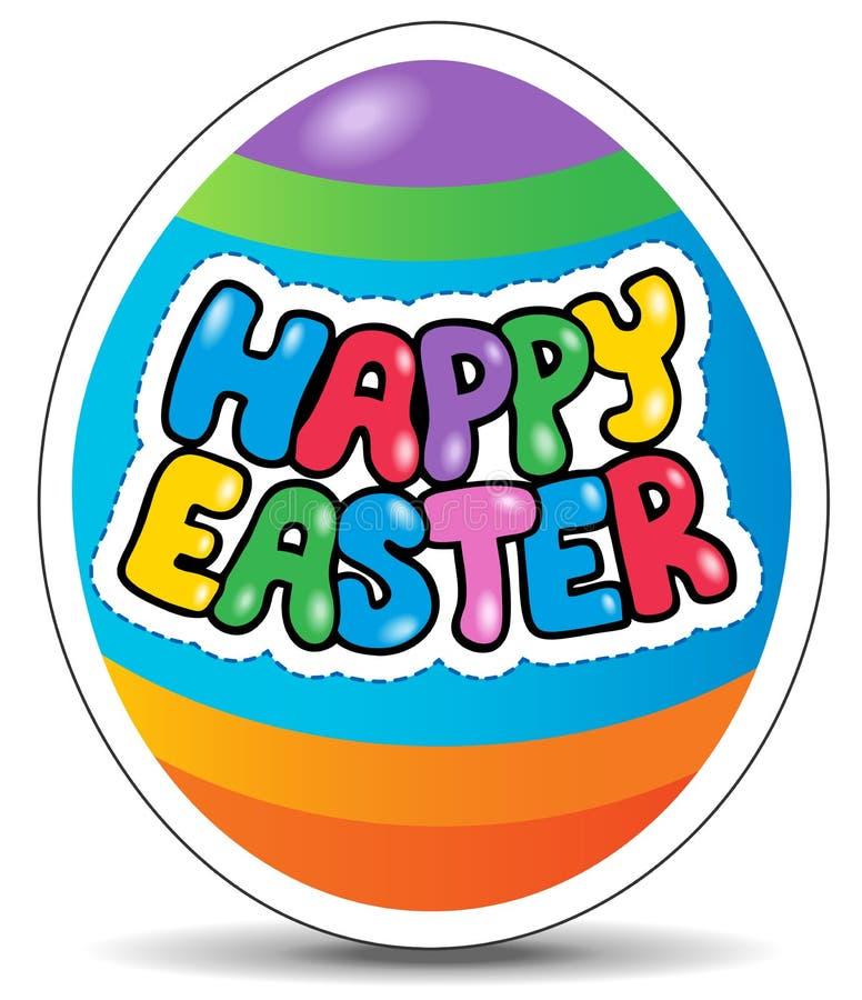 Image heureuse 1 de thème de signe de Pâques illustration libre de droits
