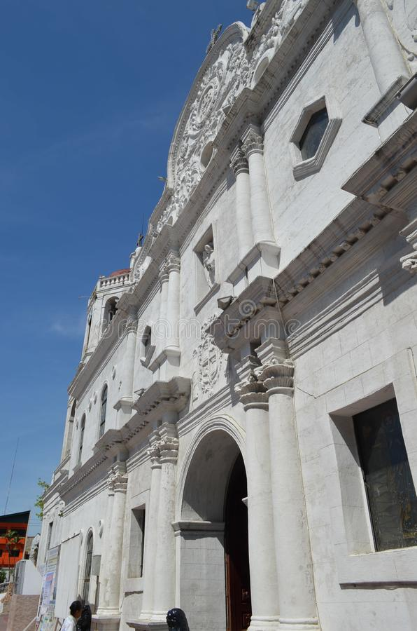 2015: Metropolitan Cathedral and Parish of Saint Vitalis and of the Guardian Angels. Image of Iconic Spanish Colonial Church of Metro Cebu in April 1565 stock photography
