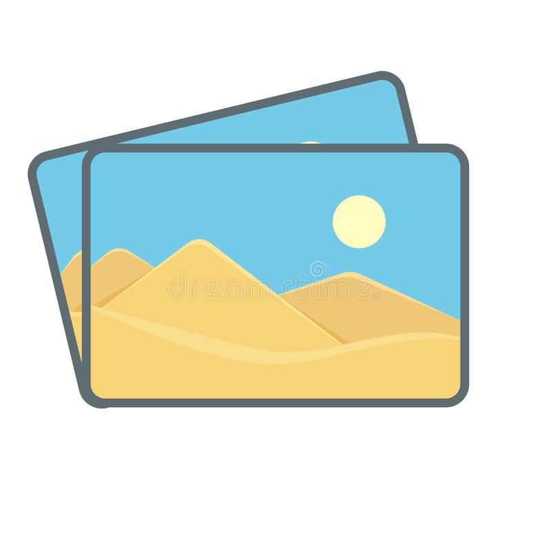 Image images photo photography picture stack icon. Vector illustration stock illustration