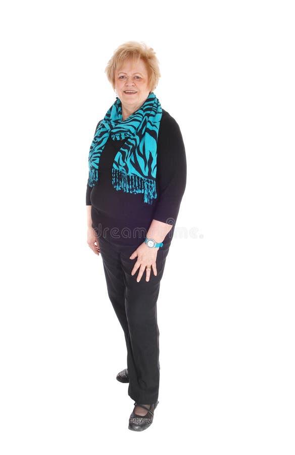 Image intégrale d'une femme plus âgée photographie stock