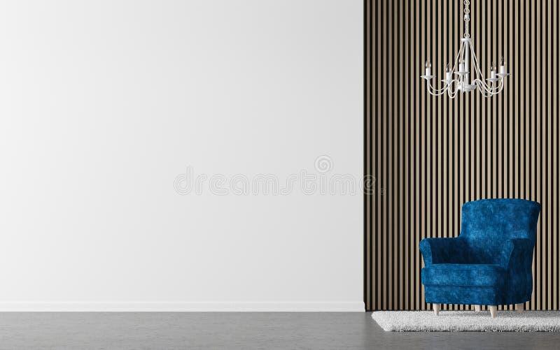 Image intérieure du rendu 3d de salon moderne illustration de vecteur