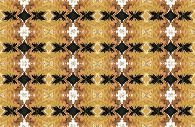 EARTHY YELLOW AND BROWN SHADES ON WALLPAPER DESIGN vector illustration